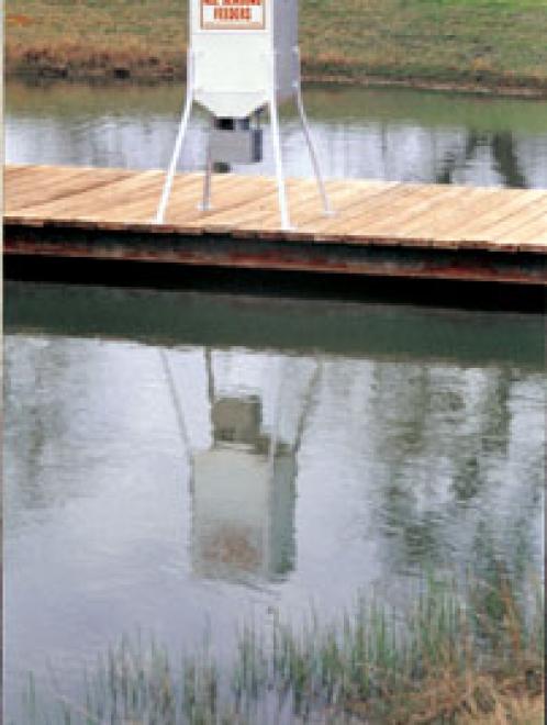 Fish Feeder with Dock Brackets