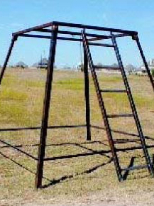Hunting Tower With Ladder One Piece Welded